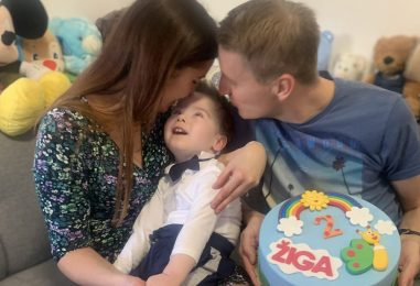 Ljubezen nama pomaga živeti z Menkesovo boleznijo